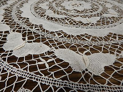 Antique Butterfly Pattern CROCHET TABLECLOTH 40 inches in diameter