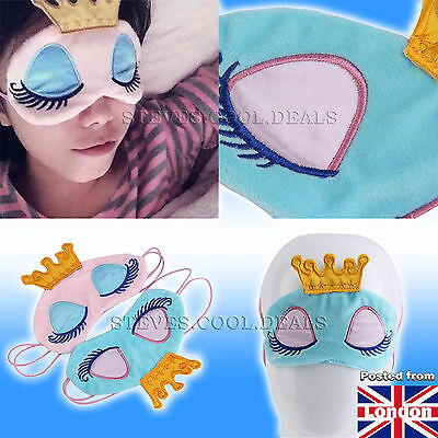 Princess EYE MASK Travel Flight Help kids SLEEP Blackout SLEEPING Blindfold NEW