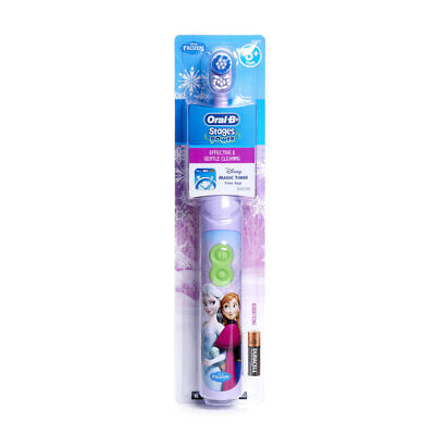 Oral B Disney Frozen Elsa & Anna Kids Electric Battery Toothbrush + Timer App