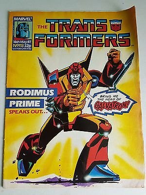 Transformers Comic #113 G1 Marvel UK Death's Head first appearance RARE