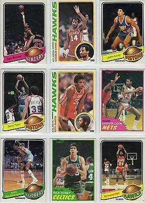 Vintage 1979-1990s NBA Basketball Rookie Card Lot - 42 cards