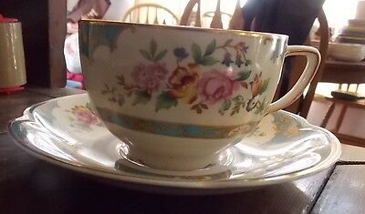 1~Johnson Brothers Pareek~Belgravia~Cup With Saucer Set~Htf~Scalloped