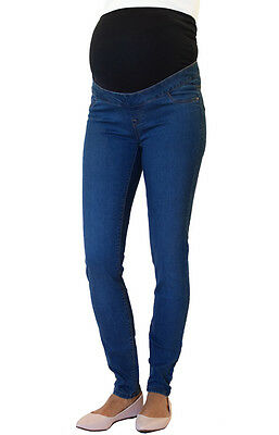 NEW LOOK Skinny Over Bump Maternity Jeggings, UK Slim Pregnancy Stretchy Jeans