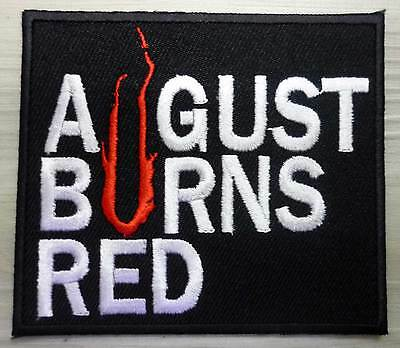 AUGUST BURNS RED embroidred patch Parkway Drive Miss May I The Devil Wears Prada