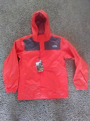 THE NORTH FACE Kids Youth Zipline Rain Jacket Coat Waterproof L Mandarin Red