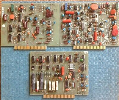 Vintage 1972 LEXITRON Word Processor. Assembly Board, Lot of 3.
