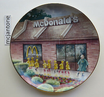 """1991 Incline Group McDonald's CAMP NIPPERSINK 8.5"""" Ceramic Plate Gold WITH BOX"""