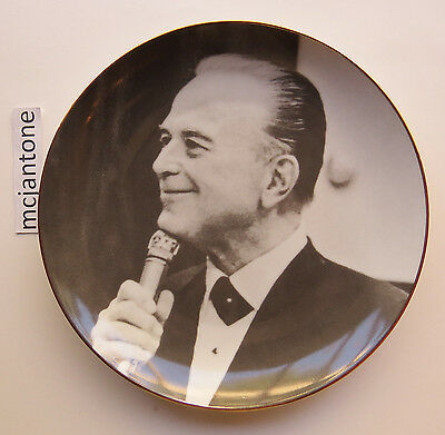 """1991 Incline Group McDonald's Founder RAY KROC 8.5"""" Ceramic Plate Gold WITH BOX"""