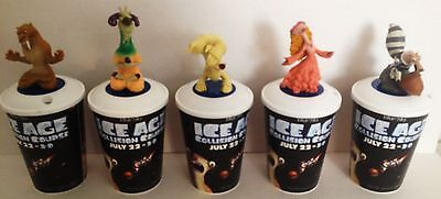 Ice Age: Collision Course Movie Theater Exclusive Cup Topper Set #1 w/12 oz Cups