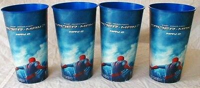 Amazing Spider-Man 2 Theater Exclusive Promotional 44 oz Plastic Cup set of 4