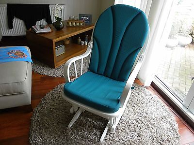 Dutailier White Rocking Nursing Chair