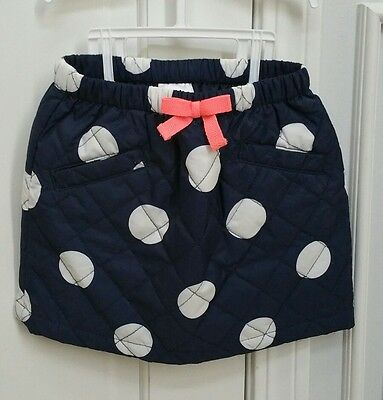 Gymboree Girls Polka Dot Quilted Puffer Skirt Bottom 6 Washed Never Worn