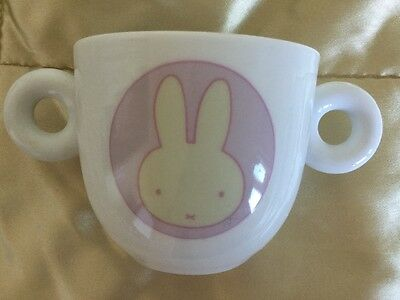Miffy 2 Handled Pottery Baby Cup/Feeder - Pink