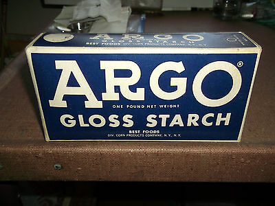 Collectible Vintage Advertising - Argo Starch - Best Foods - Old Unopened Box