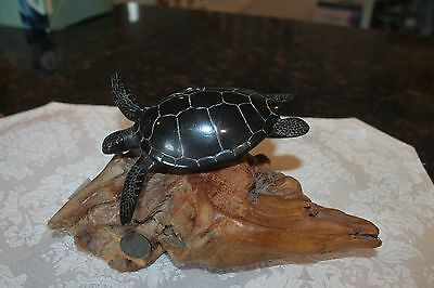 "SEA TURTLE Figurine from JOHN PERRY ""EBONITE"" Statue"