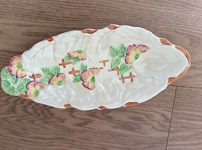 Vintage Howard Pottery Brentleigh Ware Hand Painted Bon Bon / Fruit Dish