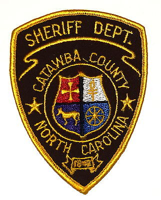 CATAWBA COUNTY NORTH CAROLINA NC Police Sheriff Patch HORSE WHEEL VINTAGE OLD ~