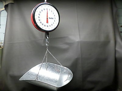 Chatillon Hanging Produce Scale 40 Lbs. Capacity - Model 027 -A - Two Sided-Nice
