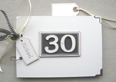 PERSONALISED 30th BIRTHDAY. BLACK..A5 SIZE.. PHOTO ALBUM/SCRAPBOOK/MEMORY BOOK.