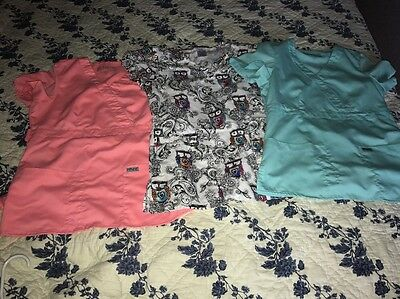 womens scrub tops