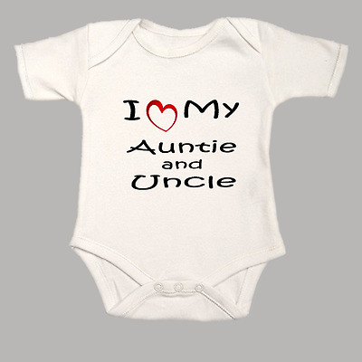 My aunt and uncle love me personalized baby clothes christmas gift i love my auntie and uncle baby grow funny heart bodysuit vest body suit gift negle Gallery