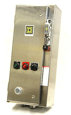 SQUARE D 8538S Size 1 Combination Starter 8536SCO3S Type 4/4X 120V Coil Fusible