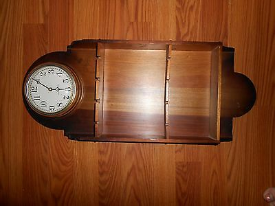 General Electric Wall Clock With Shelf Display Battery Powered Model # 2547
