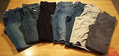 Back to School Lot of 7 Girls Pants & Shorts Size 12 Assorted ~ Pre-owned