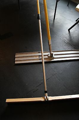 "MARSHALLTOWN 45"" x 8"" MAG. BULL FLOAT & KRAFT 36"" X 3"" CEMENT BROOM W/2 POLES"