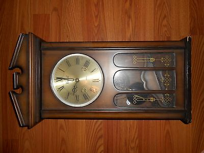 Centurion 35 day wind up wall clock with key and pendulum made in korea