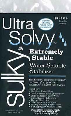 Sulky 19 1 2 x 36-inch Heavy Weight Ultra Solvy Water Soluble Stabilizer