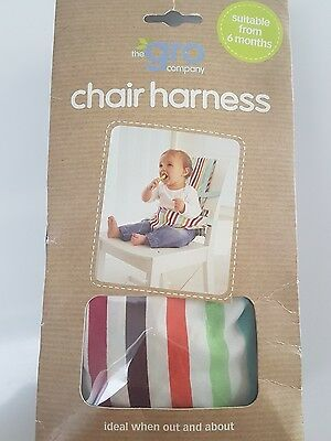 The Gro Company -  Baby/ Toddler Chair Harness Travel Stripe Unisex VGC