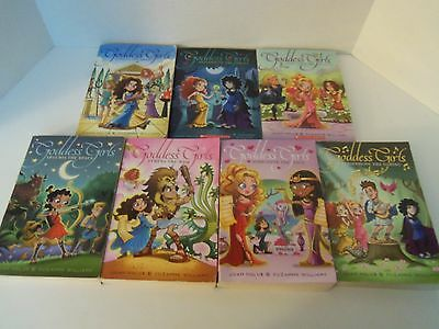 Lot of 7 GODDESS GIRLS Paperback Chapter Books Holubs & Williams 1-6 & 11