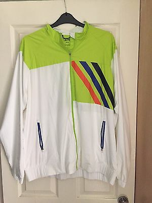 Adidas golf fz rain jacket white green size xxl for Adidas golf rain shirt