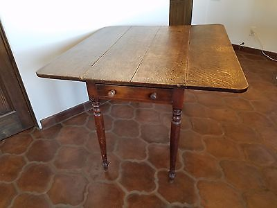 Early American Pembroke table, 19th Century, solid cherry.