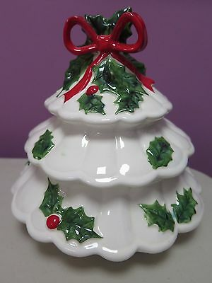 Vintage Rare Lefton Holly Berry Lidded Candy Dish 1972/73