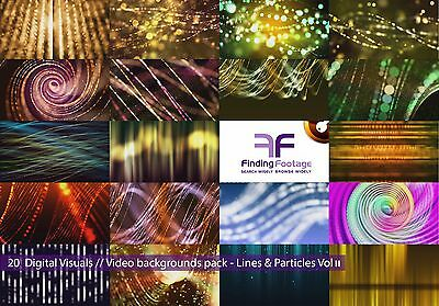 Lines & Particles Vol_02 //  20 digital video backgrounds / Royalty free