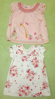 Baby Girls 3-6 Months Pink Summer Dresses x 2