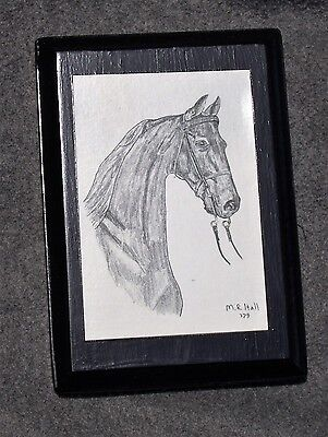 American Saddlebred NIGHT OF LOVE Horse Hand-Decorated Decoupage Plaque