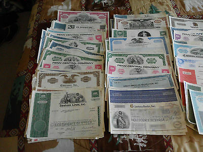 OLD MIXED STOCK CERTIFICATES -- From the 70s to 90s