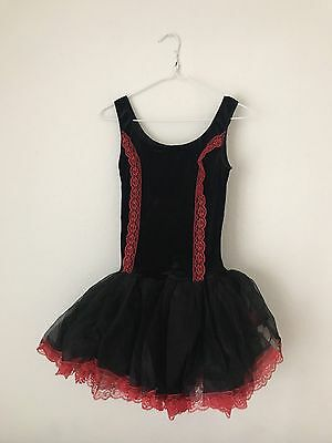 One Piece Ballet Tutu Leotard Red Size Small Adult