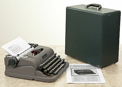 Vintage Underwood Champion Finger Flite Typewriter Refurbished and Ready For Use