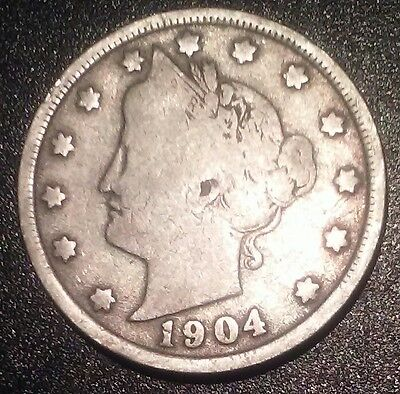 1904 P 5c Liberty Head V Nickel