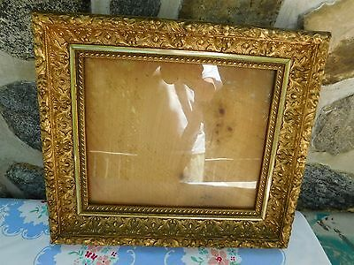antique carved gilt wood frame acanthus leaves berries +