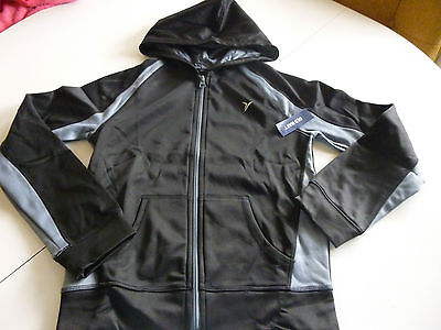 Old Navy Girls Black  Active Hooded Jacket  Size M 8  NWT