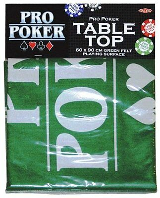 Pro Poker Table Top Green Felt Playing Surface