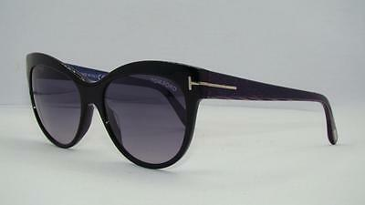f53522853a TOM FORD LILY FT 430 05B Black Sunglasses Gray Gradient Lens Size 56 ...