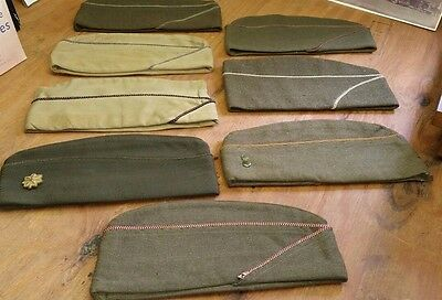 Lot of Vintage Army Hats ---WW2?