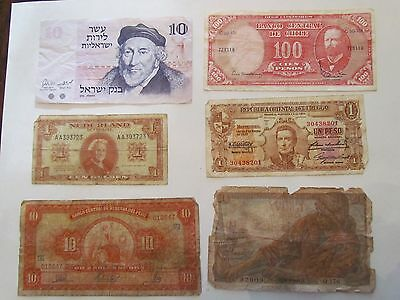 Lot of 10 Different Foreign Bank Notes