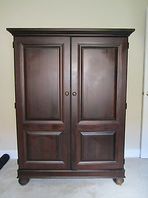 HOOKER, TV CABINET/ARMOIRE, Solid Cherry, Very Good ...